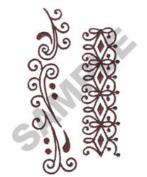 Redwork Swirl Border embroidery design