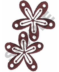 Redwork Floral Border embroidery design