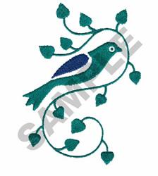 BIRD ON VINE embroidery design