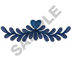 HEART VINE EMBLEM embroidery design