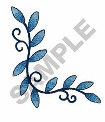 LEAF CORNER FLORAL EMBLEM embroidery design