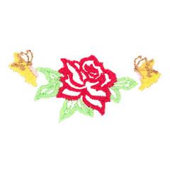 BUTTERFLIES ON FLOWER embroidery design