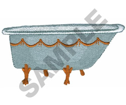 BATHTUB embroidery design