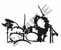 DRUMMER embroidery design