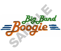 BIG BAND BOOGIE embroidery design