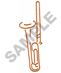 TROMBONE embroidery design