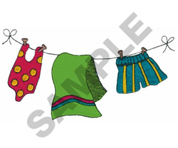 SUMMER CLOTHESLINE embroidery design