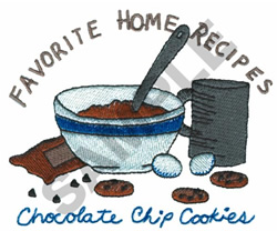 CHOCOLATE CHIP COOKIES embroidery design