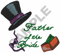 FATHER OF THE BRIDE embroidery design
