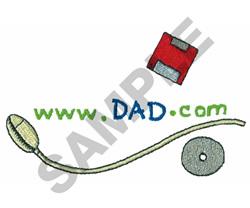 WWW.DAD.COM embroidery design
