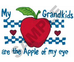 MY GRANDKIDS ARE THE APPLE... embroidery design