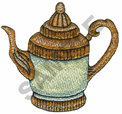EASTERN TEAPOT embroidery design