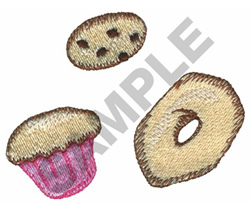 COOKIE, CUPCAKE, DONUT embroidery design
