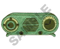 RADIO embroidery design