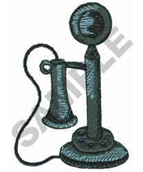 ANTIQUE PHONE embroidery design