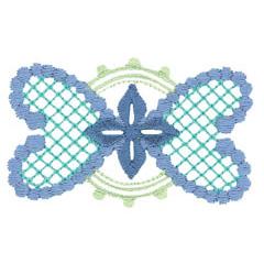 HEART EMBLEM embroidery design