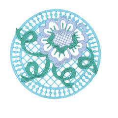 ROSE EMBLEM embroidery design