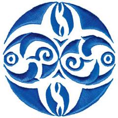 BLUE EMBLEM embroidery design