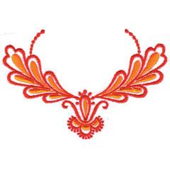 RED ORANGE EMBLEM embroidery design