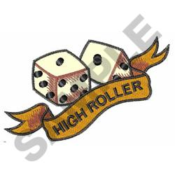 DICE AND BANNER embroidery design