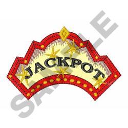 JACKPOT WINNER embroidery design