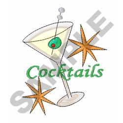 COCKTAILS GLASS embroidery design