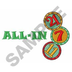 GAMBLING CHIPS embroidery design