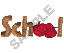 SCHOOL WITH APPLES embroidery design