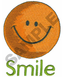 SMILE HAPPY FACE embroidery design