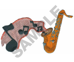 SAXOPHONE MUSIC embroidery design