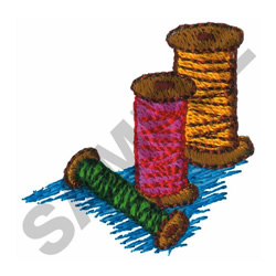 SPOOLS OF THREAD embroidery design