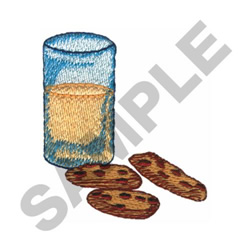 MILK AND COOKIES embroidery design