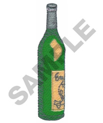 BOTTLE OF WINE embroidery design
