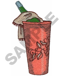 WINE IN BUCKET embroidery design