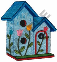 TULIP TRIPLEX BIRDHOUSE embroidery design
