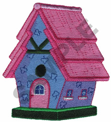 COTTAGE BIRDHOUSE embroidery design