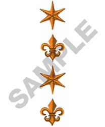STAR & FLEUR DE LIS BORDER embroidery design