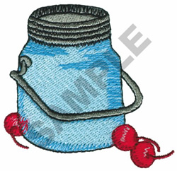 JAR WITH CHERRIES embroidery design