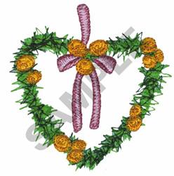 HEART WREATH embroidery design