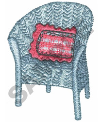 WICKER CHAIR embroidery design