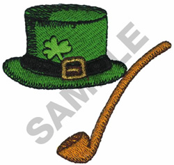 HAT WITH PIPE embroidery design