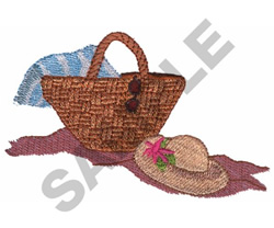 BASKET AND HAT embroidery design