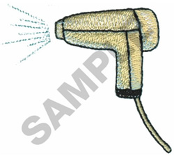 BLOW DRYER embroidery design
