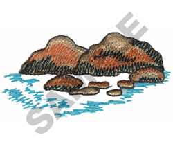 ROCKS IN THE WATER embroidery design