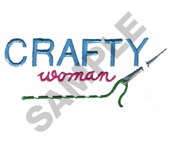 CRAFTY WOMAN embroidery design
