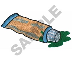 TUBE OF PAINT embroidery design