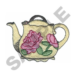 ROSE TEAPOT embroidery design