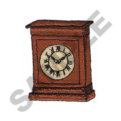 CLOCK embroidery design