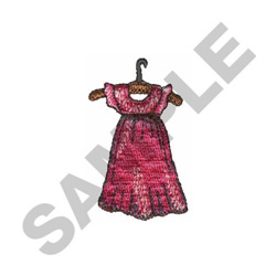DRESS ON HANGER embroidery design