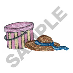 HAT AND BOX embroidery design
